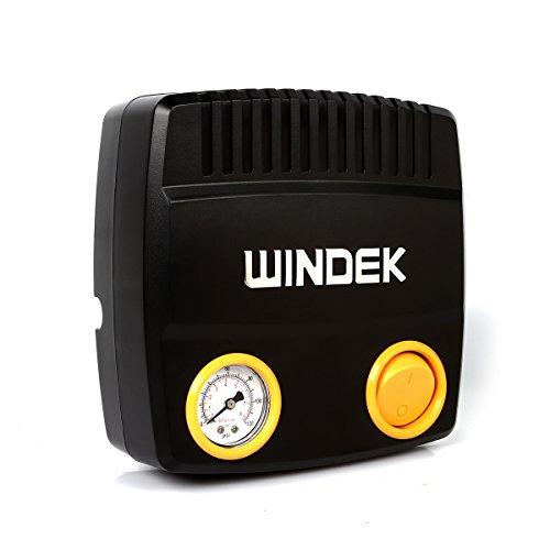 Windek C24B Car Tire InflatorTire Air Pump with Pressure Gauge and Adaptor Set 120PSI 12V 28LPM