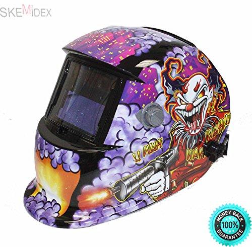 COLIBROX- Auto Darkening Welding Helmet Mask Mig Arc Tig Wwelder Joker Style Outside sensitivity adjustments provides clear vision both prior and during welding Special turnover headband mechanism