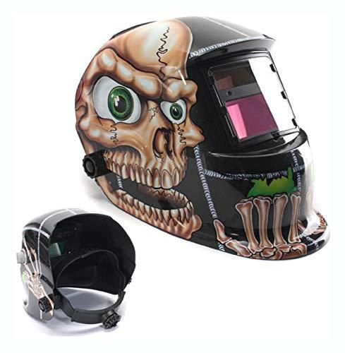 PROGLEAM Helmet Mask Goggle Solar Power Auto Darkening Welding Helmet Mask Welders Grinding Function