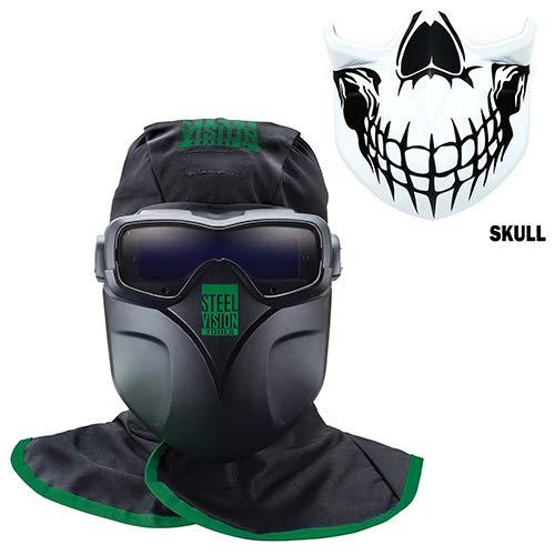Steel Vision 32000 Auto Darkening Welding Helmet Mask Kit - Welding Goggles Mask Hood Bump Cap  Skull Face Plate