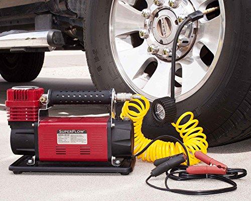 SuperFlow 12V HD Air Compressor Tire Inflator Ideal for Trucks SUVs RVs Tractors