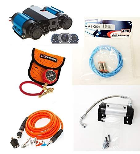 ARB 12 Volt High Performance Twin Air Compressor E-Z Deflator Airline Tire Inflation Kit Air Locker Manifold Kit