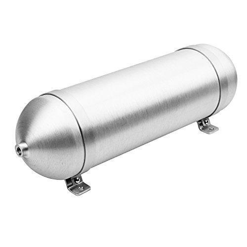 Auto Tuning 3 Gallon Air Tank Suspension Kit Train Horn Seamless Aluminum Air Tank with Mounting Feet Air Compressor Kit
