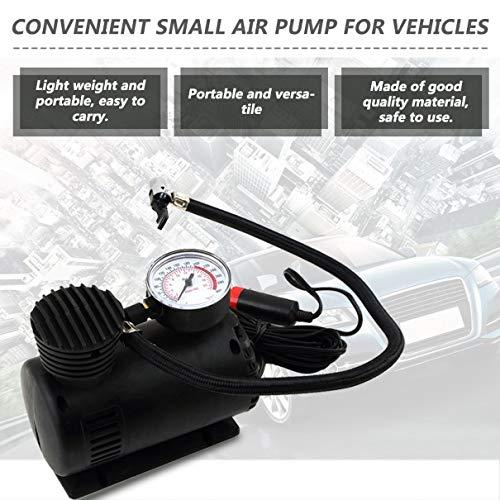 Black Portable Versatile 12V 300PSI Car Tire Tyre Inflator Pump Mini Compact Compressor Pump Car Bike Tyre Air Inflator