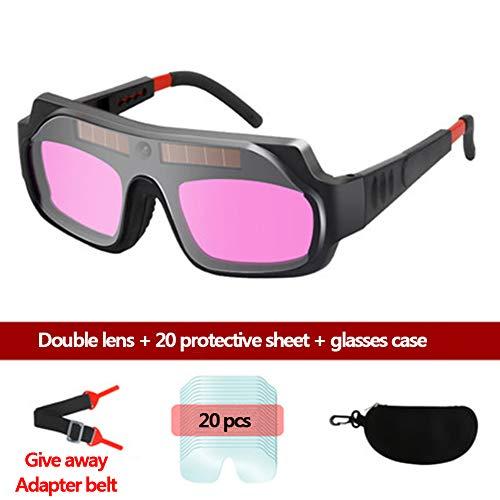 LAIABOR Auto Darkening Welding Goggles Solar Welder Eyes Glasses Gas Flip Up Lens Eye Protection for Mig Tig Arc Weld GrindingBlack