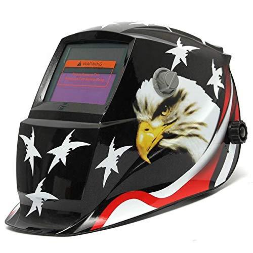 MITUHAKI Eagle Stars Auto Darkening Welding Solar Welder Mask Helmet Electric Welding Welder Lens Mask Black - 1 x Welding Helmet1 x Adjustable - Electrical Welding Tools Helmet Mask Goggles