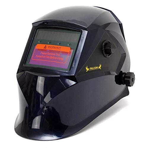 Welder Auto Darkening Solar Welders Welding Helmet Professional Protect Tool Mask with Grinding Function 4 Colors Color  Blue