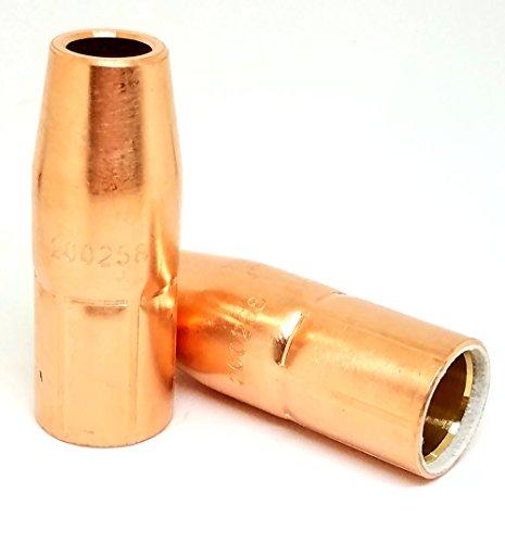 2Pk Trafimet MC0495 12 MIG Gas Nozzle 200258 for MillerHobart