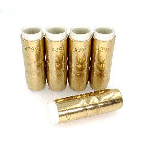 4391 Gas Nozzle 58& 16mm MIG  MAG Welding Torch Consumables Fit Bernard Style Gun 5-PK