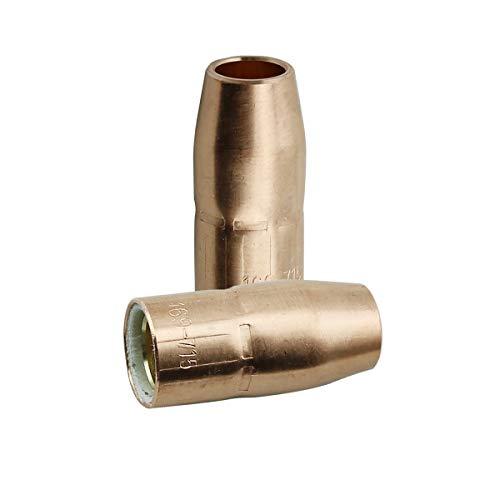 WeldingCity 2 Gas Nozzles 169-715 169715 12 for Miller and Hobart MIG Welding Guns