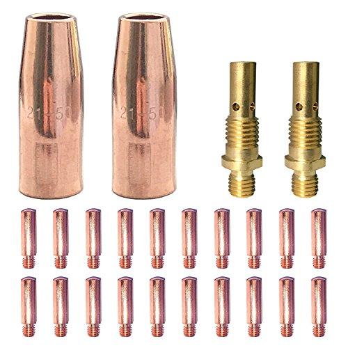 Mig Welding gun accessory 0030 kit for Lincoln Magnum 100L Tweco Mini1 Mig gun 20pcs Contact Tips 11-30 0030  2pcs gas nozzles 21-50 12  2pcs 35-50 welding diffuse