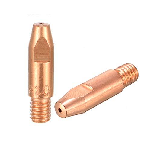 uxcell MIG Tip 1mm Welding Contact Tips for Binzel 24KD MIG Welding Pack of 2