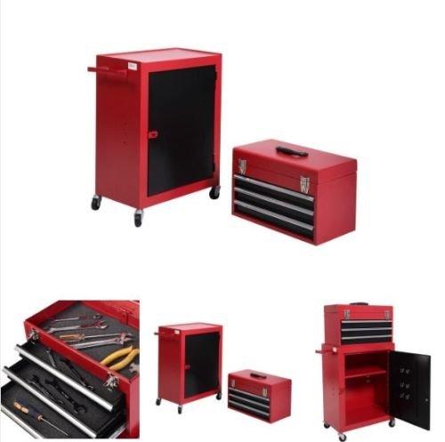 Rolling Tool Cabinet Garage Mechanic Toolbox Organizer Chest Storage Drawer Box