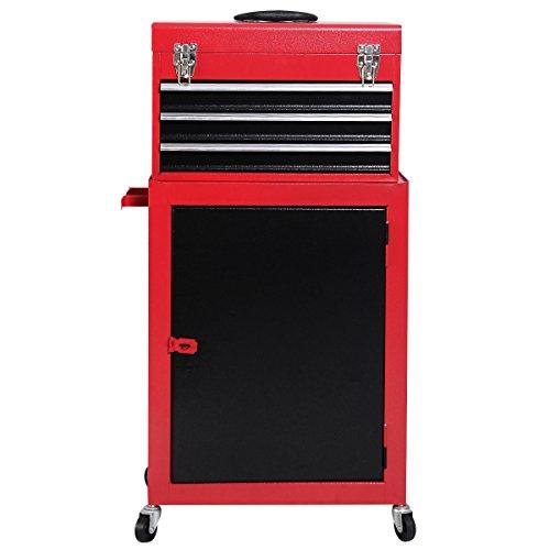 2pc Mini Tool Chest Cabinet Storage Box Rolling Garage Toolbox Drawer Portable Organizer Convenient