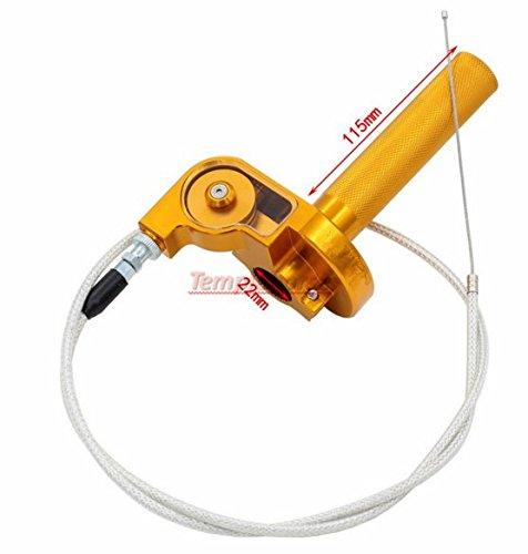 Templehorse Universal Aluminum 78 Throttle Grip Quick Twister  Throttle Cable CRF50 70 110 125 250 Dirt Pit Bike