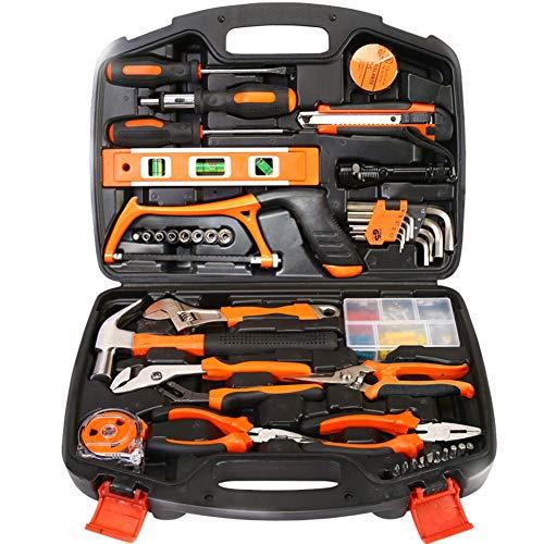 106-piece Tool Kit General Household Hand Tool Set Office Garage Home Repair Tool Combination Plastic Toolbox Storage -106pcs 40x30x9cm16x12x4inch