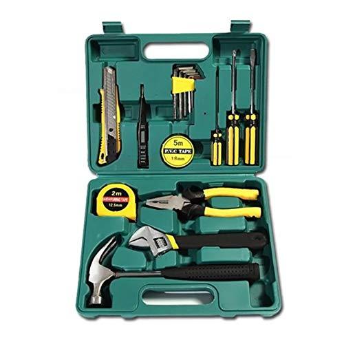 16-piece Tool Kit General Household Hand Tool Set Multifunction Home Repair Tool Combination Plastic Toolbox Storage -16pcs 27x21x6cm11x8x2inch