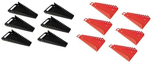 6PACK-ERNST Mfg 5089 BK  5188 RD GRIPPER 15 Wrench Organizer- YES 6 Each