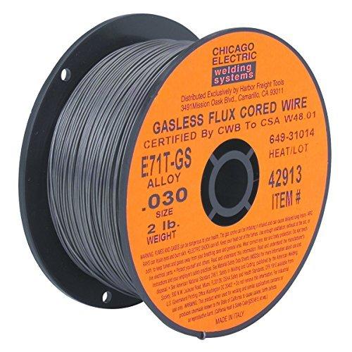 0030 in E71T-GS Flux Core Welding Wire 2 lb Roll New 90 Day Warranty