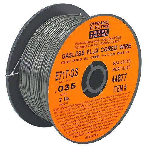 0035 in E71T-GS Flux Core Welding Wire 2 lb Roll from TNM