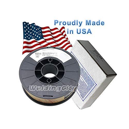 WeldingCity USA Made Gasless Flux Core E71T-11 10-Lb Spool 0030 Mild Steel MIG Welding Wire