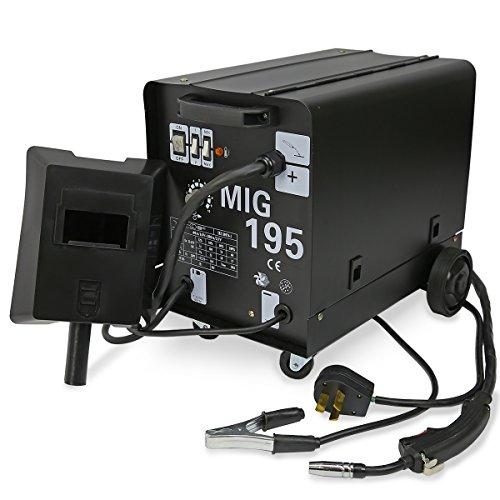 XtremepowerUS MIG-195 Gas-Less Gas Flux Wire Core Welder Welding Machine Automatic Wire Feed 230V 195AMP Welder wWheel Kit