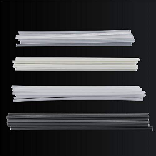 qwrew05 50Pcs Plastic Welding Rods Bumper Repair ABSPPPVCPE Welding Sticks Welding Soldering Supplies for Plastic Welder GunHot Air Gun