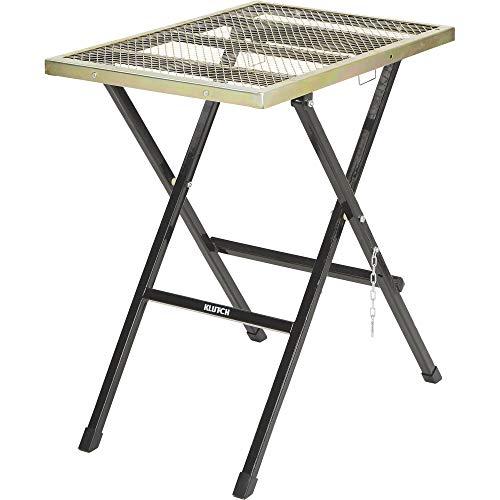 Klutch Portable Folding Welding Table - 30inL x 20inW x 32 14inH
