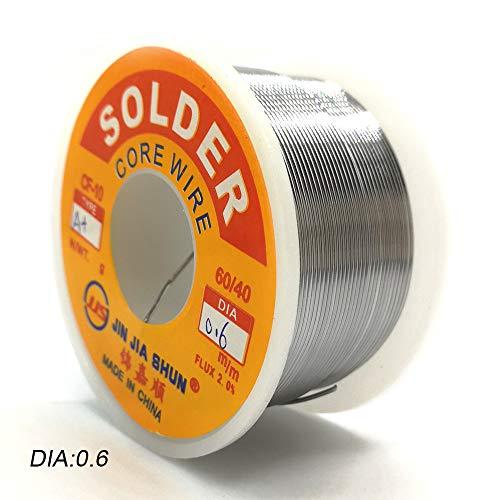 1Pc New Welding Iron Solder Core Wire Reel 97G98g100g35Oz FLUX 20 06 08 10Mm Tin Lead Line Rosin Flux Soldering W 0dot6