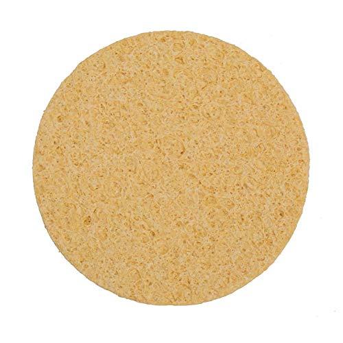 NITRIP 10 Pcs Thin Soldering Iron Sponge Electric Welding Iron Tip Cleaning Sponge Pad Circular