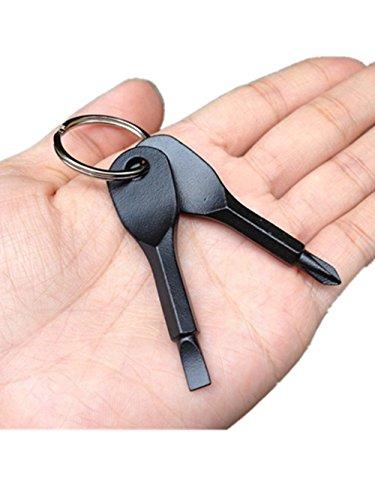EDC Portable Screwdriver Set Tool with Key Ring Black