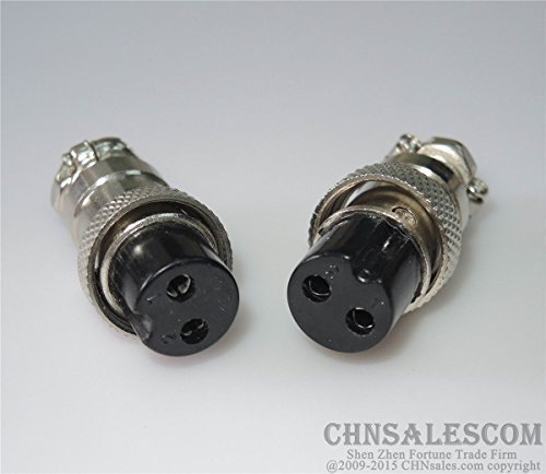 CHNsalescom 2 pcs 2 Pin GX16-2P Plug Connector of Welding Machine Control Line Fast Joint