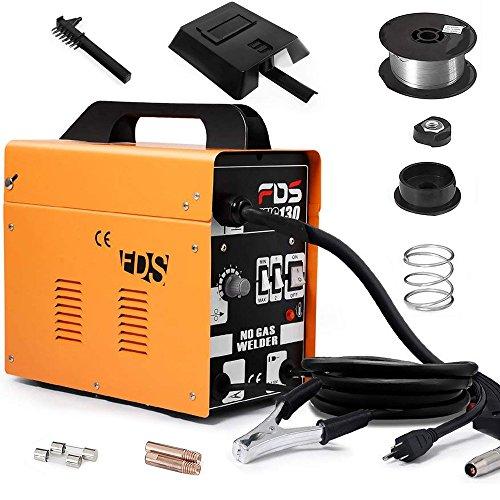 Goplus MIG 130 Welder Flux Core Wire Automatic Feed Welding Machine wFree Mask