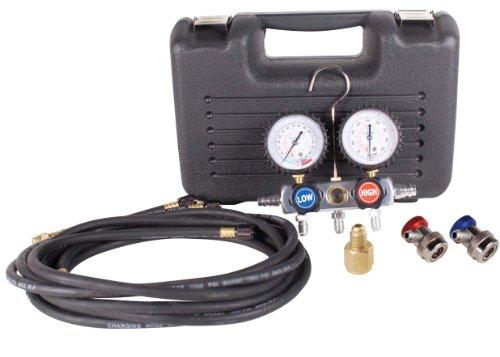 FJC 6750 BlackChrome Aluminum Manifold Gauge Set