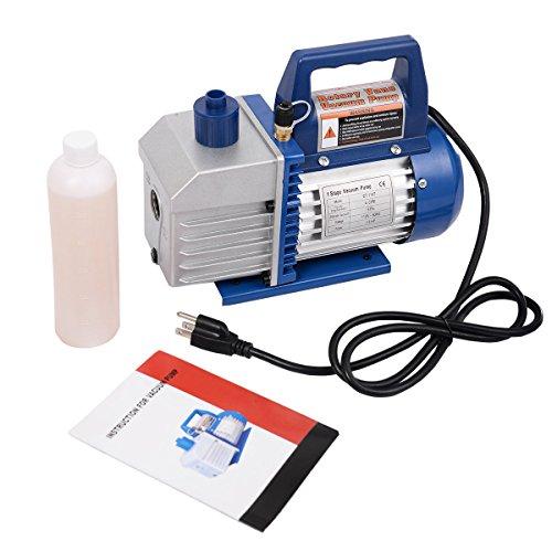 Goplus Single Stage 13HP 4CFM Rotary Vane Deep Vacuum Pump HVAC AC Air Tool R134 R410a