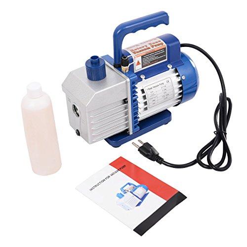 Goplus Single Stage 13HP 5CFM Rotary Vane Deep Vacuum Pump HVAC AC Air tool R134 R410a