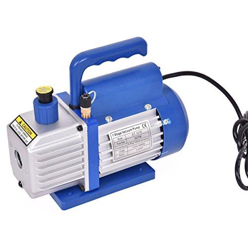 Goplus Single Stage 14HP 3CFM Rotary Vane Deep Vacuum Pump HVAC AC Air Tool R134 R410a