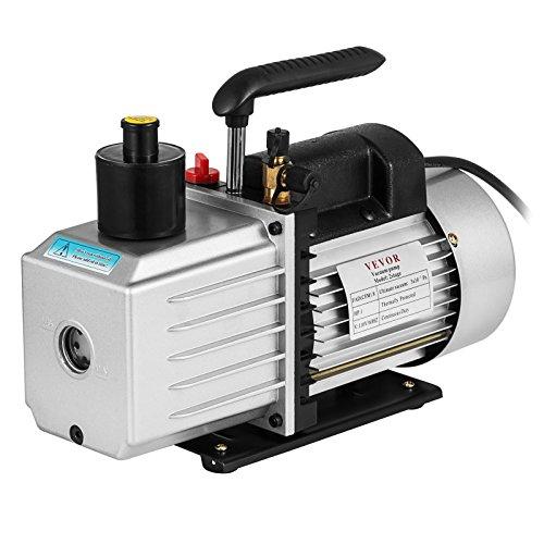 VEVOR Vacuum Pump 8CFM 1HP Two Stage HVAC Rotary Vane Vacuum Pump Wine Degassing Milking Medical Food Processing Air Conditioning Auto AC Refrigerant Vacuum Pump 2-Stage 8CFM