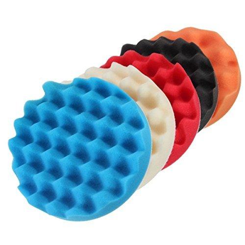 Sponge pad - TOOGOOR 5Pcs 6 Sponge Buffer Waffle Polishing Foam Buffing Pads Set For Car Polisher