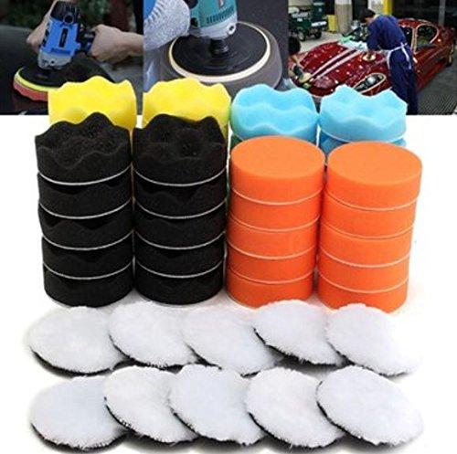 50pcs 80mm Buffing Polishing Sponge Pads Kit Car Polishing Tool Cleaning Tool by ShopIdea