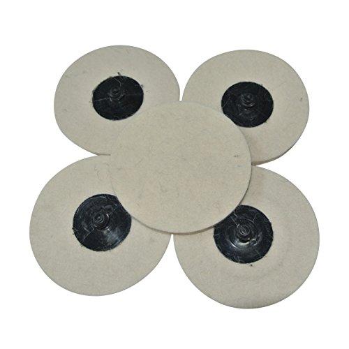 JRL 6Pcs 3 Round Polishing wheel Felt Wool Buffing Polishers Pad Buffer