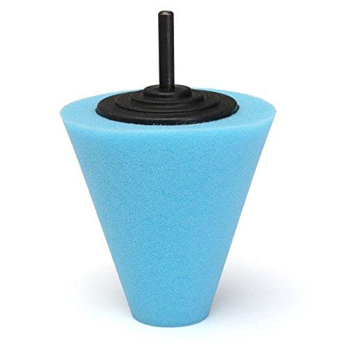 Sponge Polishing Pad - SODIALR Sponge Cone Polishing Auto Buffer Pad adapter Drill Blue