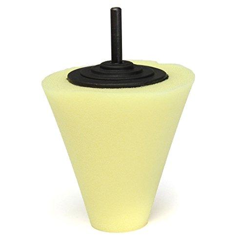 Sponge Polishing Pad - TOOGOOR Sponge Cone Polishing Auto Buffer Pad adapter Drill Yellow