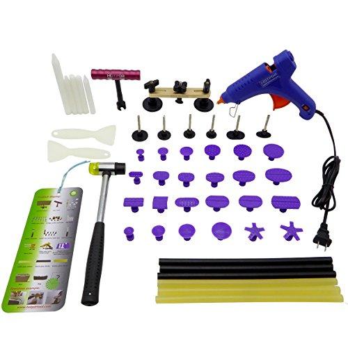 HOTPDR Car Dent Auto Body Tools Dent Puller Kit Paintless Dent Removal Tools Auto Dent Puller for Dent Repair 42 Pcs