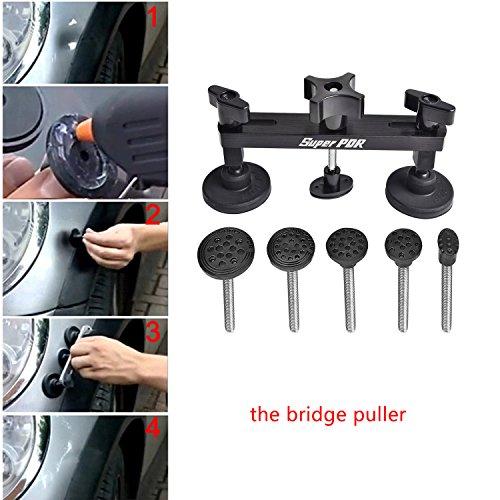 AUTOPDR 1pcs Puller Bridge Black Car Body Dent Remover Tool