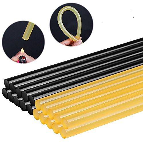 FLY5D 20Pcs Paintless Dent Repair Tool Car Repair Dent Remover Tool Set Hot Glue Sticks BlackYellow