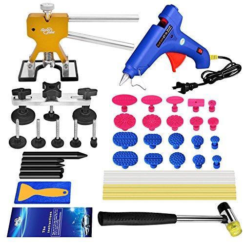 Super PDR 37Pcs Pro Paintless Dent Removal Repair Tool Kits Golden Dent Lifter Car Hail Damage Remover Kits