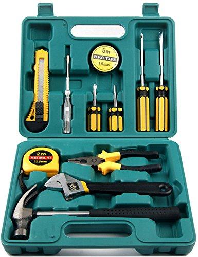 CUKKE 12PCS Automotive Emergency Tools Set Portable Toolbox Auto Repair Tools Set Combination Tools