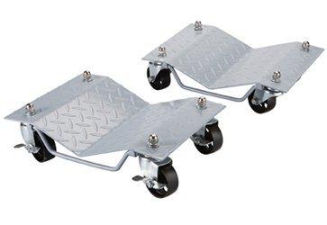 Set of 2 Tire Wheel Dollies Dolly Heavy Duty Vehicle Car Auto Repair Diamond Pattern Tread