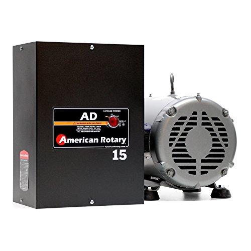 10 HP Manual Gearhead Lathe American Rotary Phase Converter 240 VAC Single To Three Phase Wall Mount - AD-15-ML